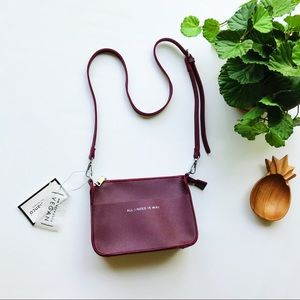 Melie Bianco Aida Burgundy All I Need Is WiFi Bag